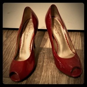 Candy apple red heels